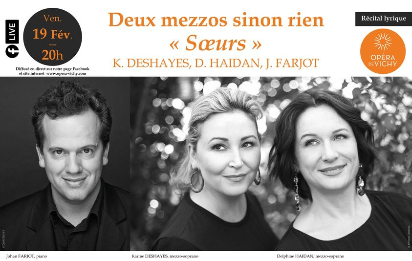 """𝗗𝗘𝗨𝗫 𝗠𝗘𝗭𝗭𝗢𝗦 𝗦𝗜𝗡𝗢𝗡 𝗥𝗜𝗘𝗡 - """"SŒURS"""" Concert en ligne de l'Opéra de Vichy"""